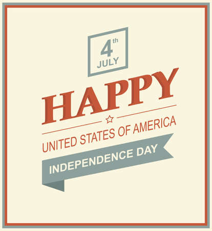 independence day: Vector illustration of US Day of Independence. Holiday 4th of July. Retro styled symbol of freedom with text.