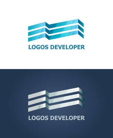 logo batiment: Vector logo. Signe de la construction d'un centre d'affaires moderne. bureau de luxe dans le centre-ville