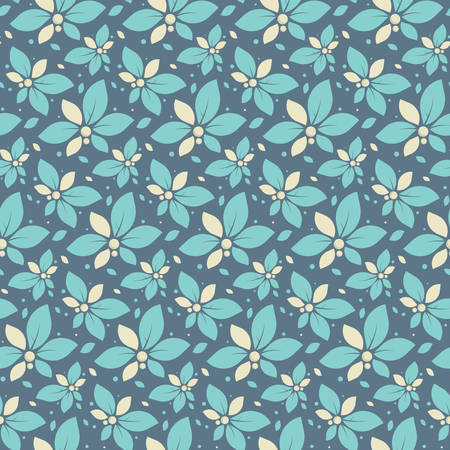 textile background: Beautiful vector illustration with mint flowers. Seamless pattern for the Internet or for gift wrapping. Bright summer flowers