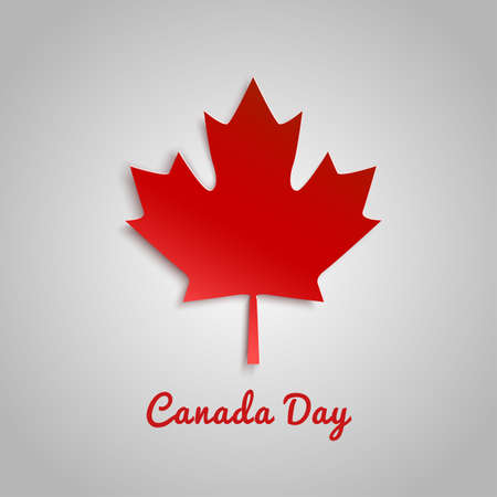 Design a banner for Canada Day 1 st of July. Vector modern stylish illustration. Vector banner for the Internet to the Canada Day with red leaves.