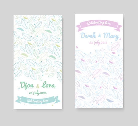 invitation frame: Wedding invitation cards with floral elements.
