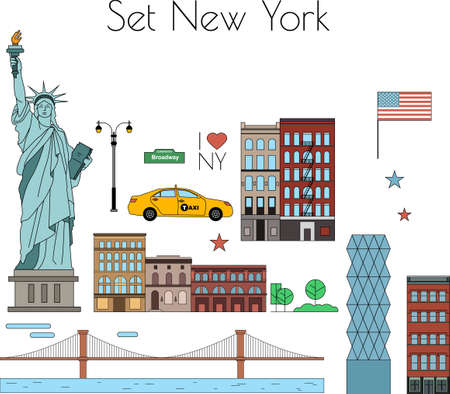 new york taxi: Vector set of New York city