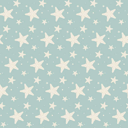 Abstract seamless geometric pattern with stars