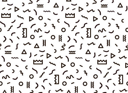 Seamless pattern in black colors with geometric elements. Pattern hipster style. Templates suitable for posters, postcards, fabric or wrapping paper