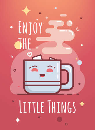 enjoy: Enjoy the little things hand-lettering. Enjoy the little things hand-lettering. Illustration