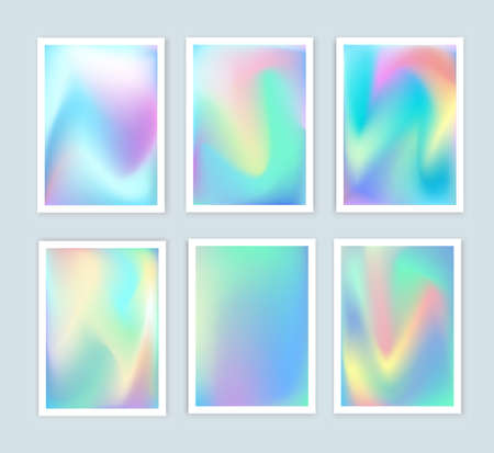 holography: Bright holographic backgrounds 2 set for a different design. You can use a gift card, cover, book, printing, fashion. Modern style trends 80. surreal hipster images.