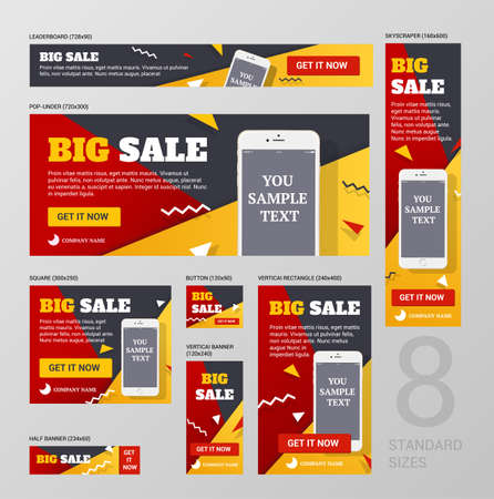 standard: Standard web banners Set size.