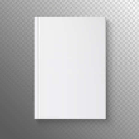 background cover: White book on a transparent background. Vector illustration of the book business. Pattern books for web. White book template.
