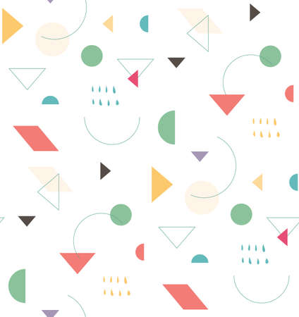 Bright geometric pattern in the style of the 80s 90s for the cover design, background, cover, fabric, fashion. Holiday repeating pattern