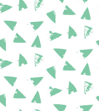 manually: Seamless green drawn manually. Create hand drawn background with triangles for your design. Ethnic Polynesian pattern for your design, fabric, postcards. Natural motive for design. Illustration