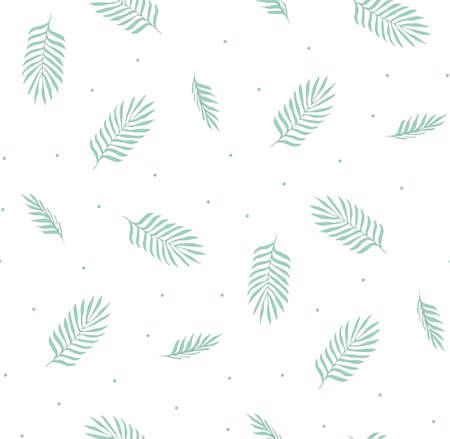 feuille arbre: Vector seamless pattern avec des feuilles de palmier. motif simple et léger pour le tissu, cartes postales, invitations, fond.