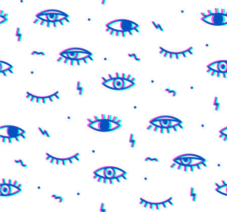 multiply: Seamless pattern in the style of psychedelic eyes. Style offset and multiply. The pattern for the fabric cover, the book.