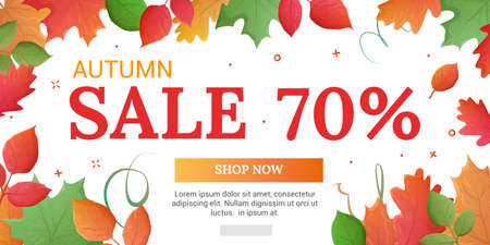 house clearance: Last sale banner. Autumn discounts in the store. On sale now. Banner for web. Discounts of 70% Illustration