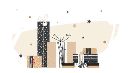 twine: Big pile of handmade gifts. Illustration