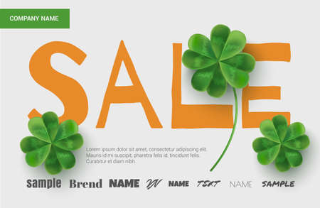 Template Design Sales Banner On St Patricks Day Simple For The Site