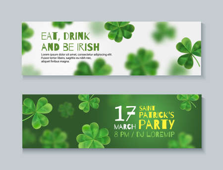 patrics: Collection of banners for St. Patricks Day. Banners can be used on the web, magazine shop. 3d effect.