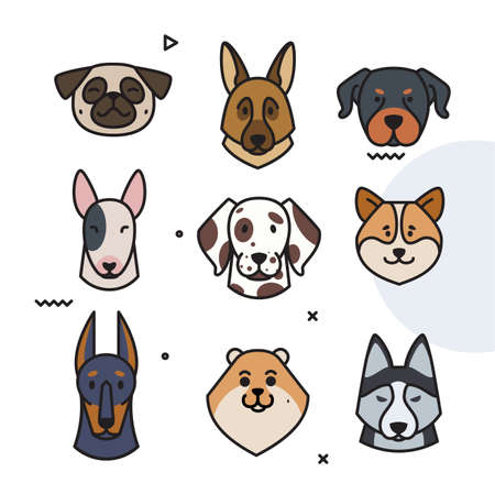 dog trend labels. 2018 year of the dog