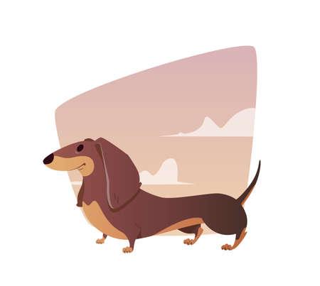 A vivid illustration of the dachshund.