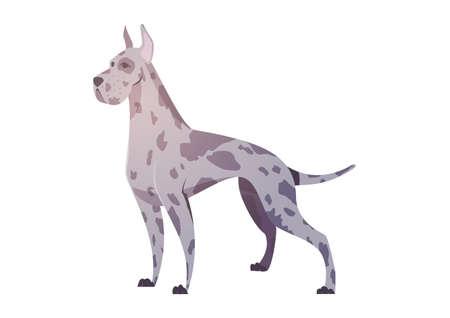 漫画のスタイルでドイツの犬。