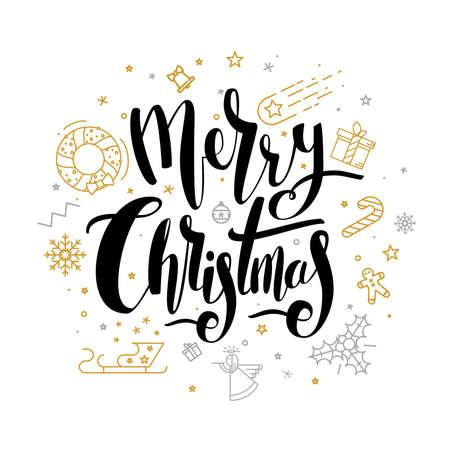 メリー クリスマスの文字デザイン