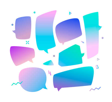 Trend speech bubbles set in a gradient design