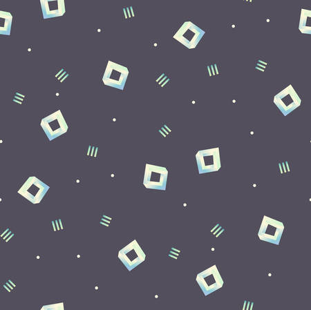 Seamless pattern with random figures.