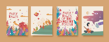 Fairy tales of the ancient forest card set.