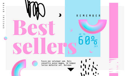 Best sellers banner. Original banner for discount. Abstract background with text. Иллюстрация
