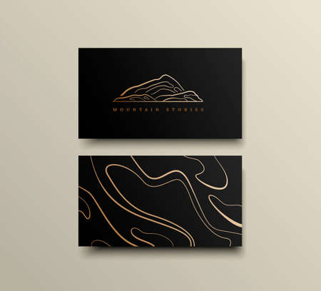 Creative Mountain Visit Card Design. Logo for Travel Company