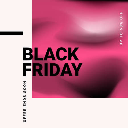 Black Friday Sale with super discounts. Modern vector illustration