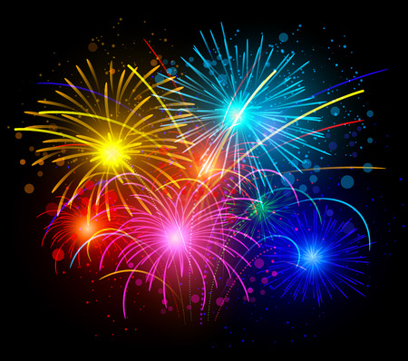Celebrate New Year With Firework Stock Vector - 27250458