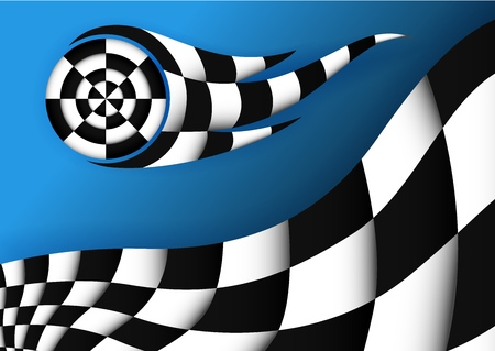 racing bike: Racing Flag Vector Background Illustration