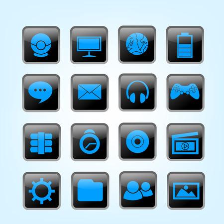 Desktop Icon Shiny Icon Vector