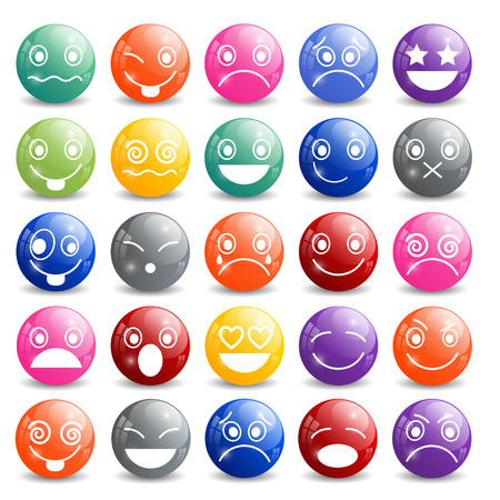 sad love: Smiley Icons Shiny Ball