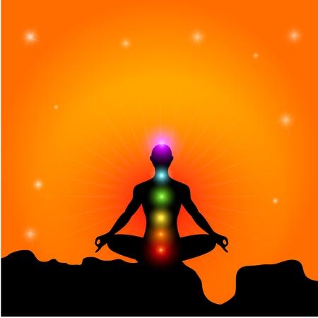 Chakra And Meditation Illustration