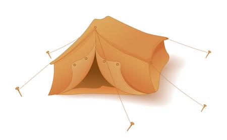 overnight: Cute Tent Camp Vettoriali