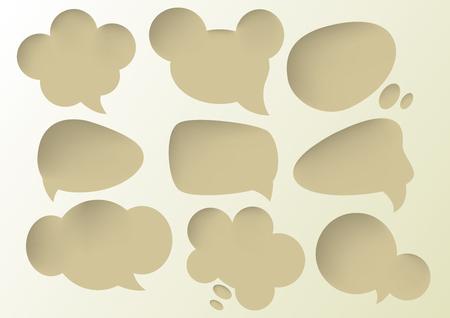 deep: Speech Bubbles Deep hole sets