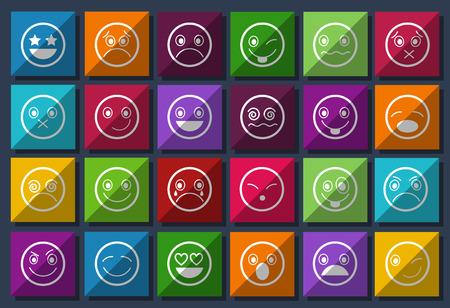 smiley: Smiley Icons Design Metro style set