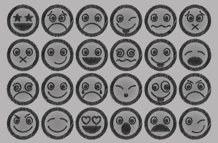 envy: Smiley Icons Pen shading effect set