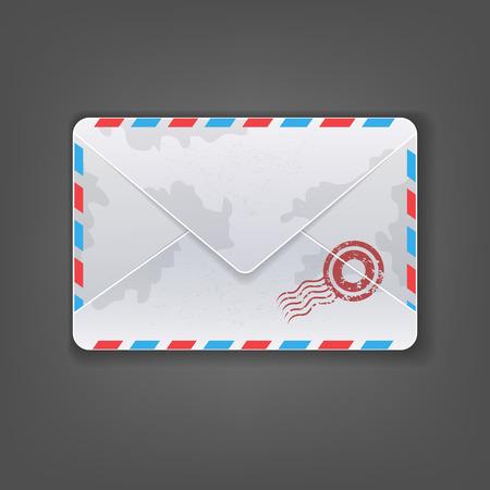chatbox: Single Mail vintage Illustration