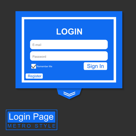 cardholder: Login Page Blue Metro Style