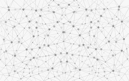 Grayscale Geometric Connection Background Ilustrace
