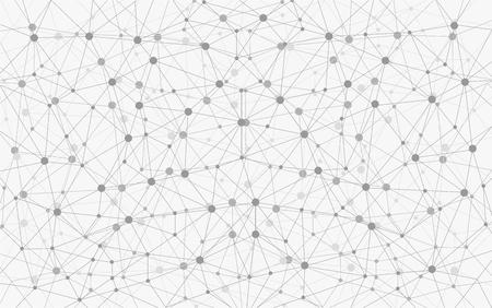 Grijstinten Geometrische Connection Achtergrond