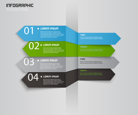 element: Modern arrow infographics element