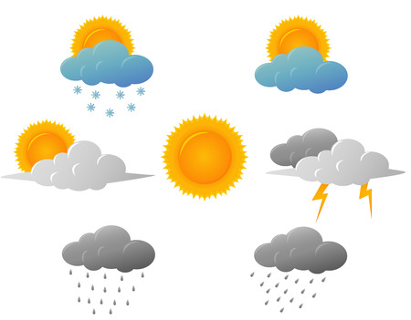 Weather icons design Ilustrace