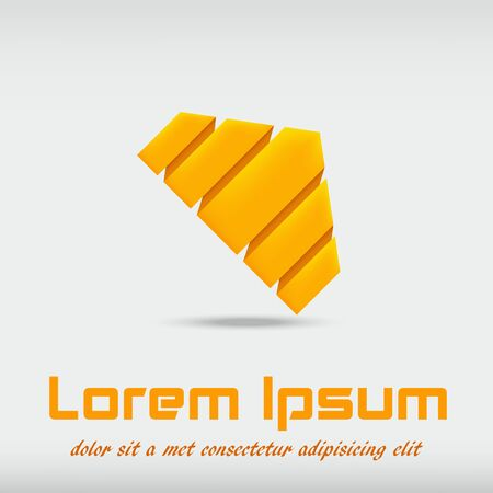 company: Gold Origami Symbol Company Illustration