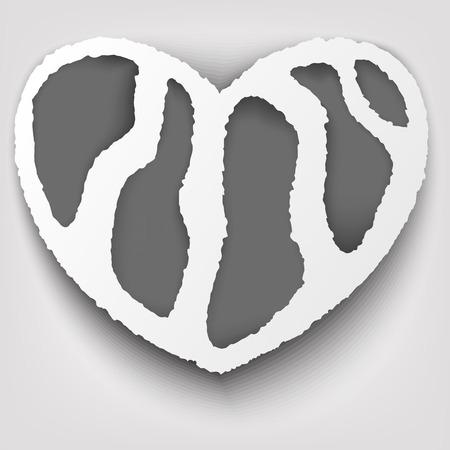 torn heart: Heart Torn Paper Concept Design