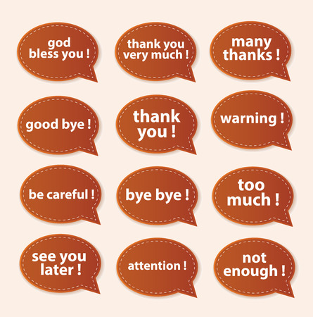 Speech Bubbles Greeting Proud Collection Illustration