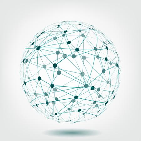Abstract dark blue Sphere illustration
