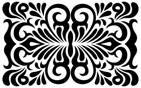 swirly: Black and white swirly ornament